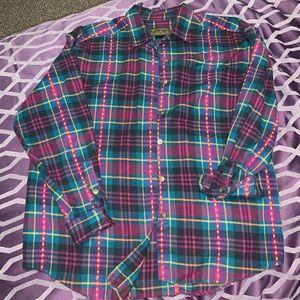 Vintage Eddie Bauer Women's Large Cotton Shirt